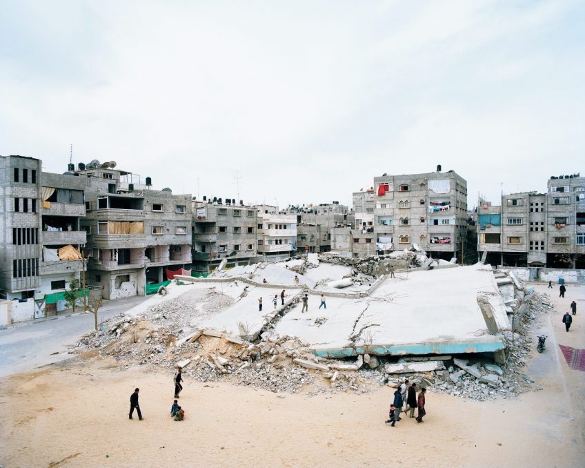 """Destroyed four-story mosque in the center of Gaza""#""Destroyed four-story mosque in the center of Gaza"""