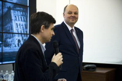 Артур Ионаускас и Генеральный консул Литовской республики в Санкт-Петербурге Дайнюс Нумгаудис