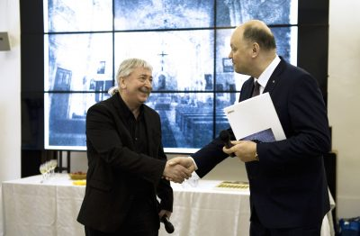 Генеральный директор РОСФОТО Захар Коловский и Генеральный консул Литовской республики в Санкт-Петербурге Дайнюс Нумгаудис